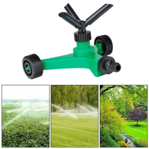 Image 2 - 2019 New Three fork Rotary Sprinkler With Wheels Watering Tri outlet Rotating Sprinklers-in Garden Sprinklers from Home & Garden
