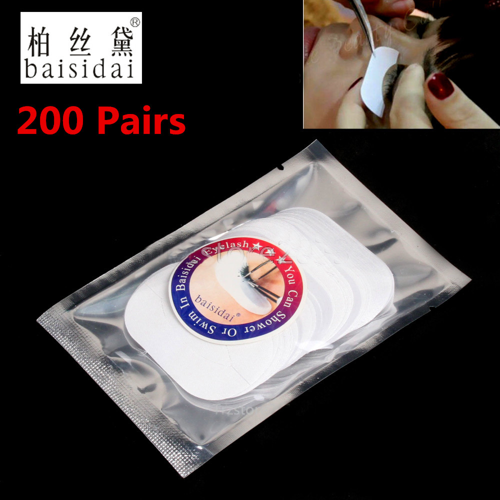 Baisidai 200 Pairs Silk Under Eye Patch Pad Sticker Lint Free Eyelashes Extension Tool Send From Russia