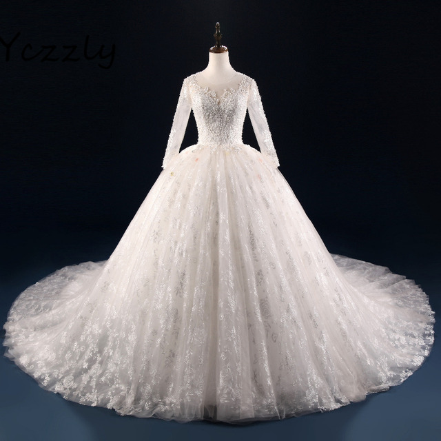 Marvelous Ball Gown Princess Style Wedding Dress 2017 Long Sleeves ...