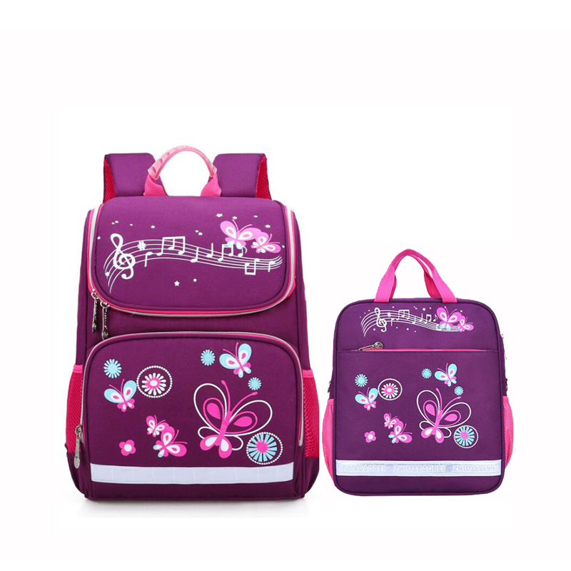 Children School Bags Set For Girls And Boys Orthopedic Backpack Cartoon Butterfly Car School Bag Kids Satchel Knapsack Mochila