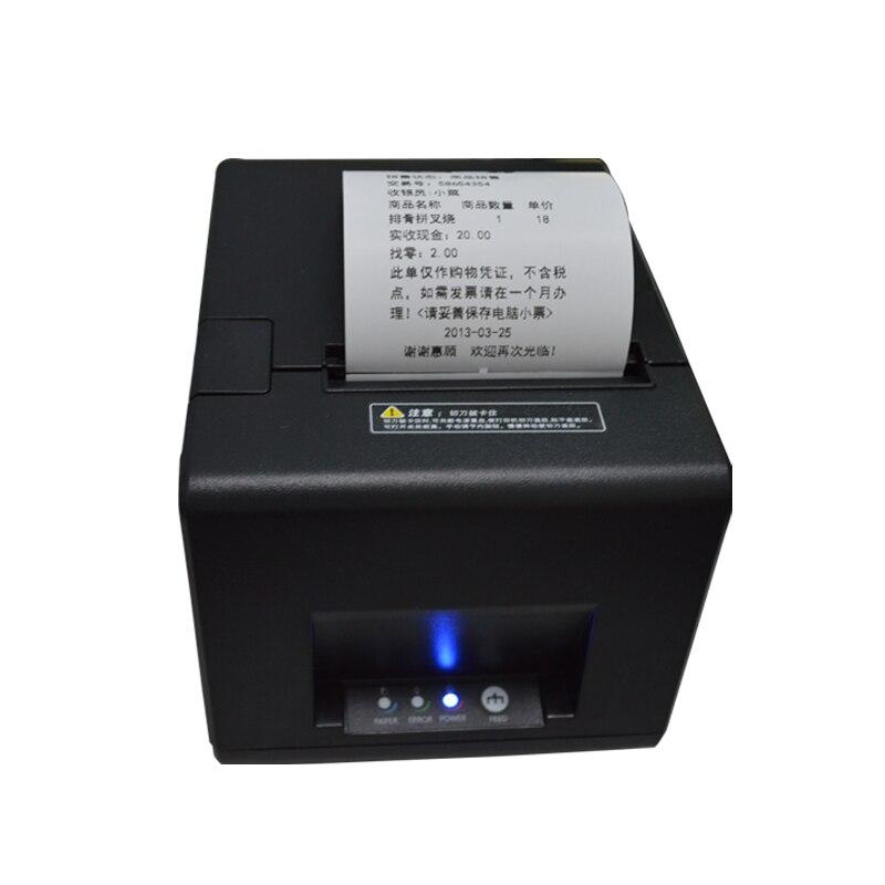 Pos-принтера высокое качество 80 мм Термопринтер автоматической резки USB + последовательный порт/портов ethernet 180 мм/сек.