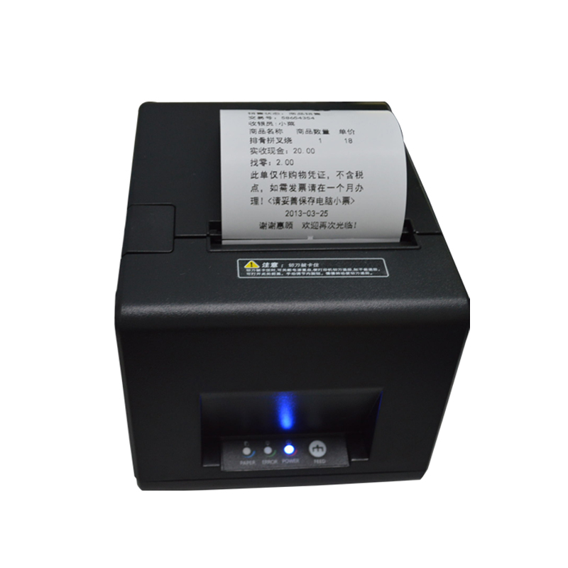 pos printer High quality 80mm thermal receipt printer automatic cutting USB+Serial port/Ethernet ports 180 mm/s