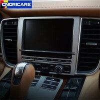 Car Center Console Navigation Screen Frame Decoration Sticker Trim For Porsche Panamera Cayenne Macan Aluminium Alloy Styling