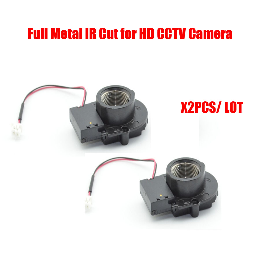 Full Metal High Quality  2pcs/lot CCTV Camera IP camera Module Accessories M12*0.5 MTV Mount Lens IR-Cut Filter, Free shipping high quality metal material hd ir cut filter m12 0 5 lens mount double filter switcher for ip camera cctv camera