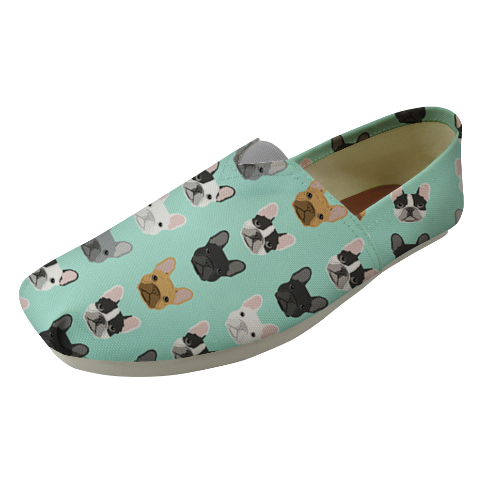 Frenchie Bulldogs Women Flats Ultralight Lazy Shoes For Girls Women Work Loafers Ladies Wrapping Nurse Sneakers Sapato Feminino