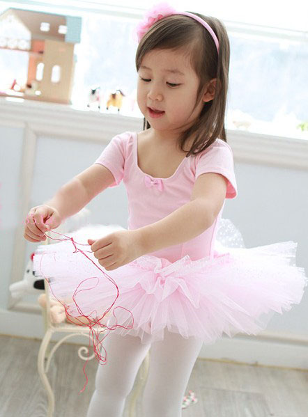 wholesale Children's ballet skirt,tutu dance dress,dancing dress,baby skirt ,girl's dress+ (Present rose hair accessories/clip)