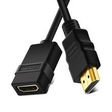 HDMI męski na żeński kabel 3FT 1 M złącze Adapter portu 1080 P dla HDTV rozszerzenia komputera