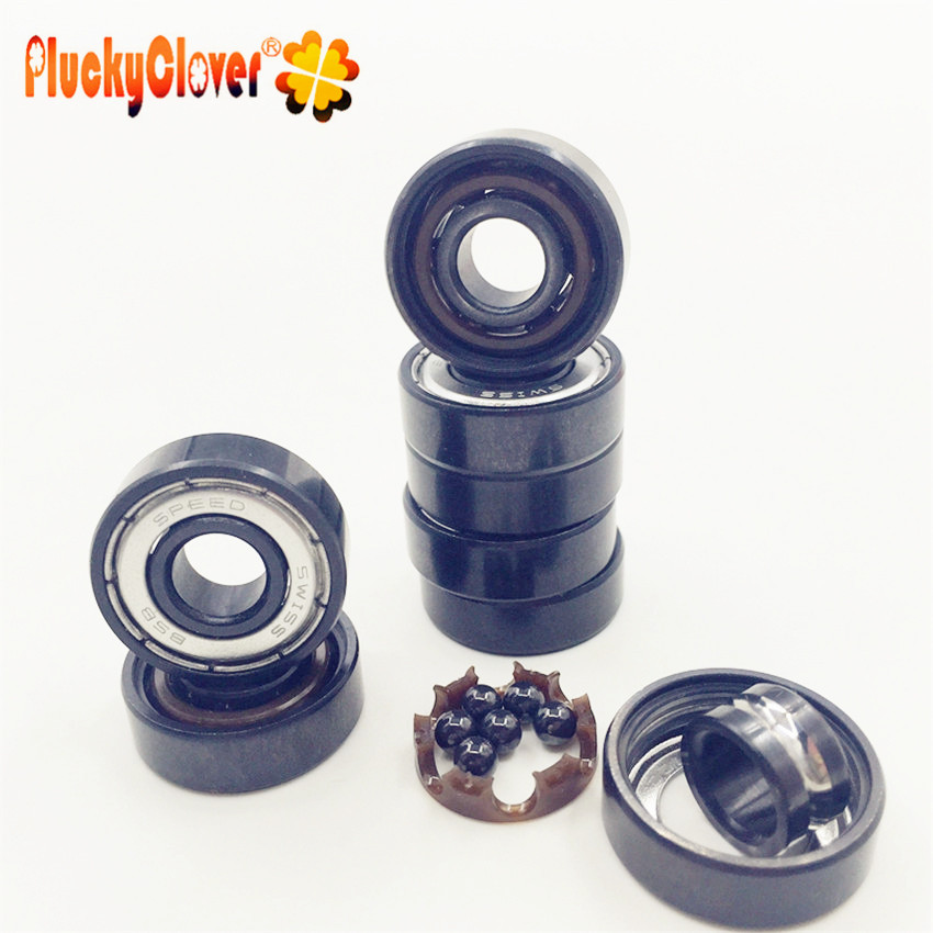 Fidget Spinner 8 Pcs Fast Speed Black Ceramic Ball Bearing 608-2rs Spinner Swiss Bsb Blacken Si3n4 Ball Bearing 608z For Inline Driftboard Gyro