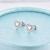 Trendy 925 sterling silver brincos para as mulheres brincos do parafuso prisioneiro esterlina-prata-jóias coração branco banhado a ouro AAA cubic zircão