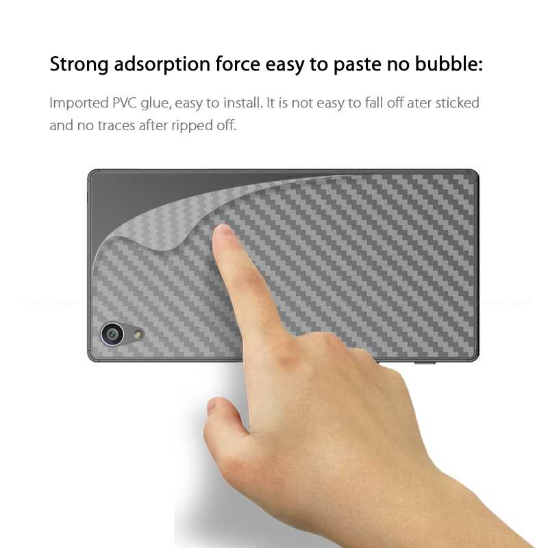 Задняя крышка из углеродного волокна защитная пленка для sony Xperia Z Z1 Z2 Z3 Z4 Z5 Compact Premium Plus C4 L1 не стекло