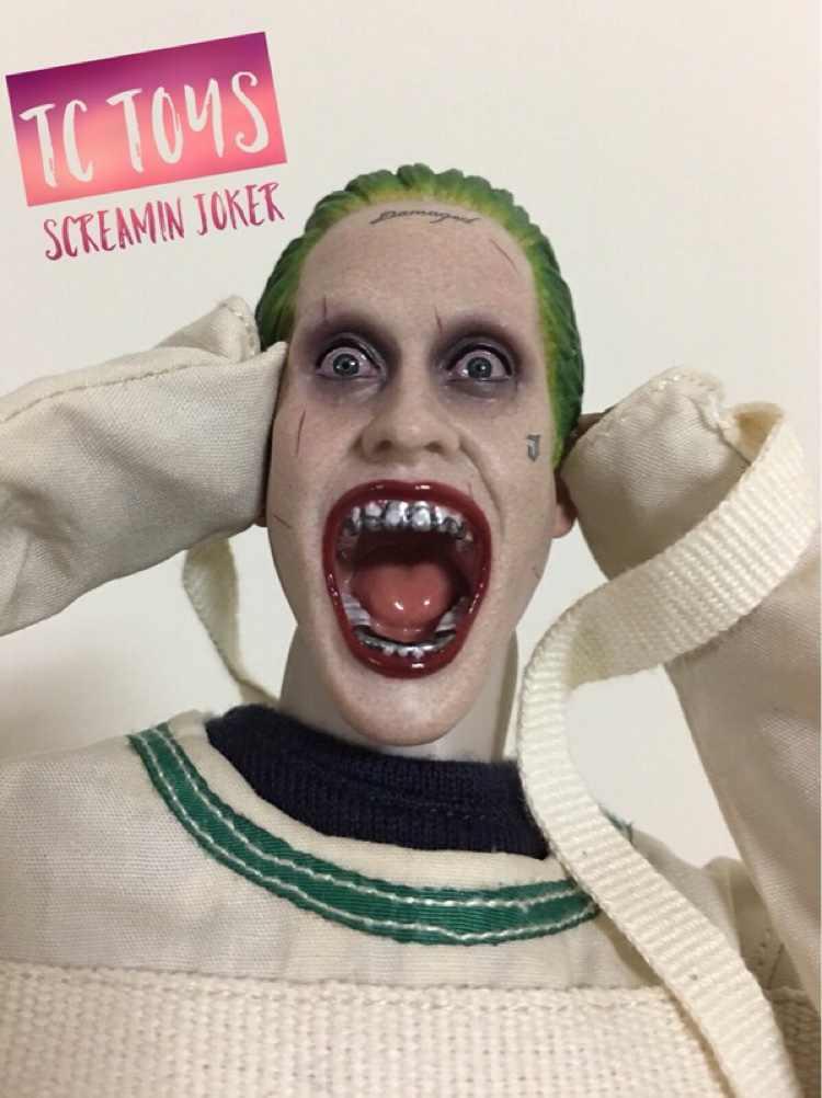 Personalizado Grito Joker 1/6 Chefe Sculpt para Hot Toys Corpo Esquadrão Suicida Jared Leto