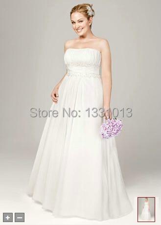 0b47b81c54cd 2016 Chiffon Wedding Dresses A-line with Beaded Lace on Empire Style 9V9743  Wedding Dresses