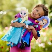 Plush Toys 2014 New 50cm Princess Elsa Anna Plush Doll Brinquedos Kids Dolls for Girls
