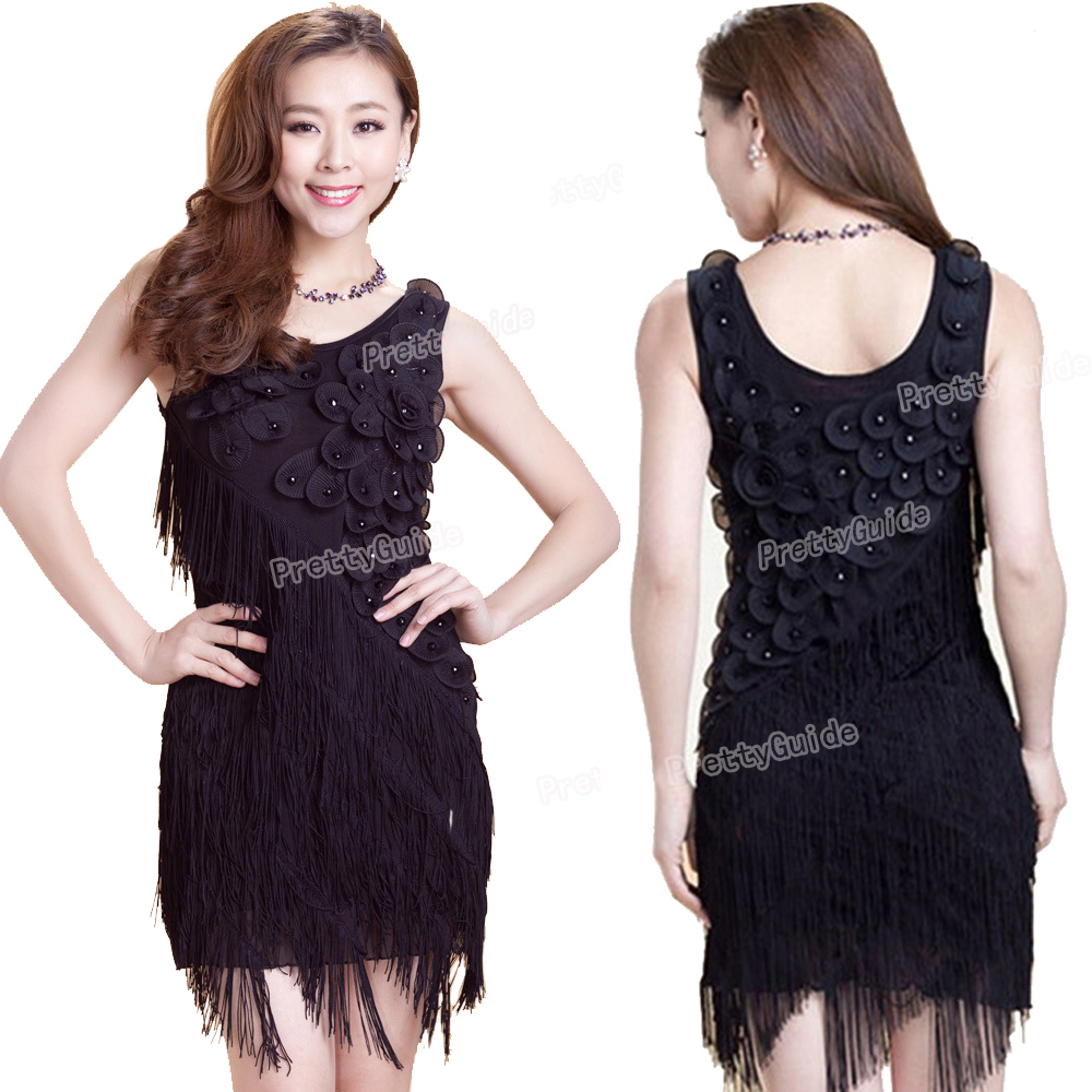 71919d933d0 PrettyGuide Women 1920s Beaded Fringe Scalloped Petal Hem Origami Plus Size  Flapper Dress Special Occasion Dress-in Dresses from Women s Clothing on ...