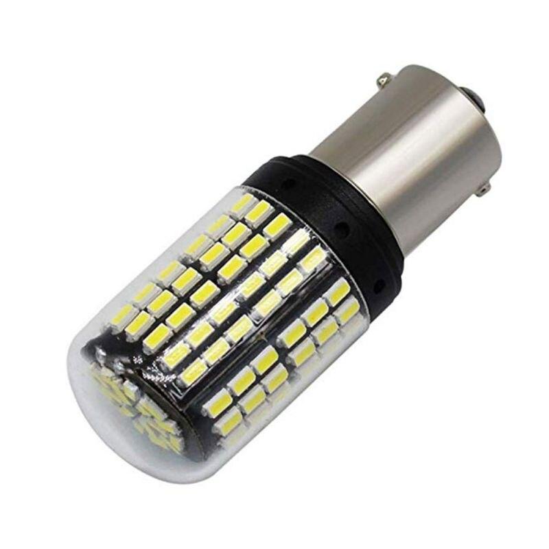 2 шт. T20 7440 W21W 1156 BA15S P21W BAU15 PY21W Автомобильный светодиодный свет сигнальная Поворотная лампа свет задний Реверс лампы задний стоп-сигнал лампы - Испускаемый цвет: BA15S White