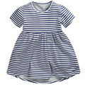 Wholesale Little maven 6PCS New summer girl dress pure cotton stripe Cute dresses cotton girls clothes costume
