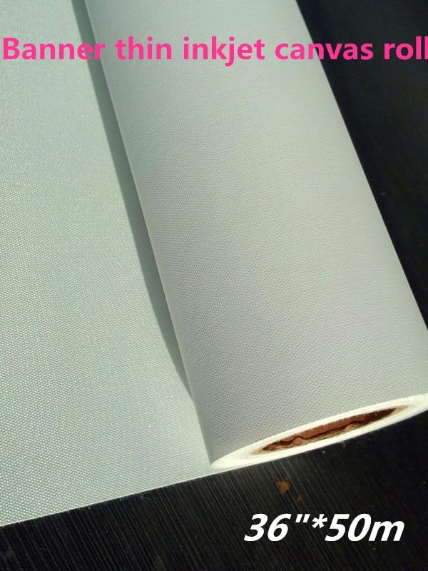 """36 """"* 50 m solvant polyester traceur impression toile mat pour extérieur/imprimable jet d'encre imprimante toile rouleau-in Peinture Toile from Fournitures scolaires et de bureau    1"""