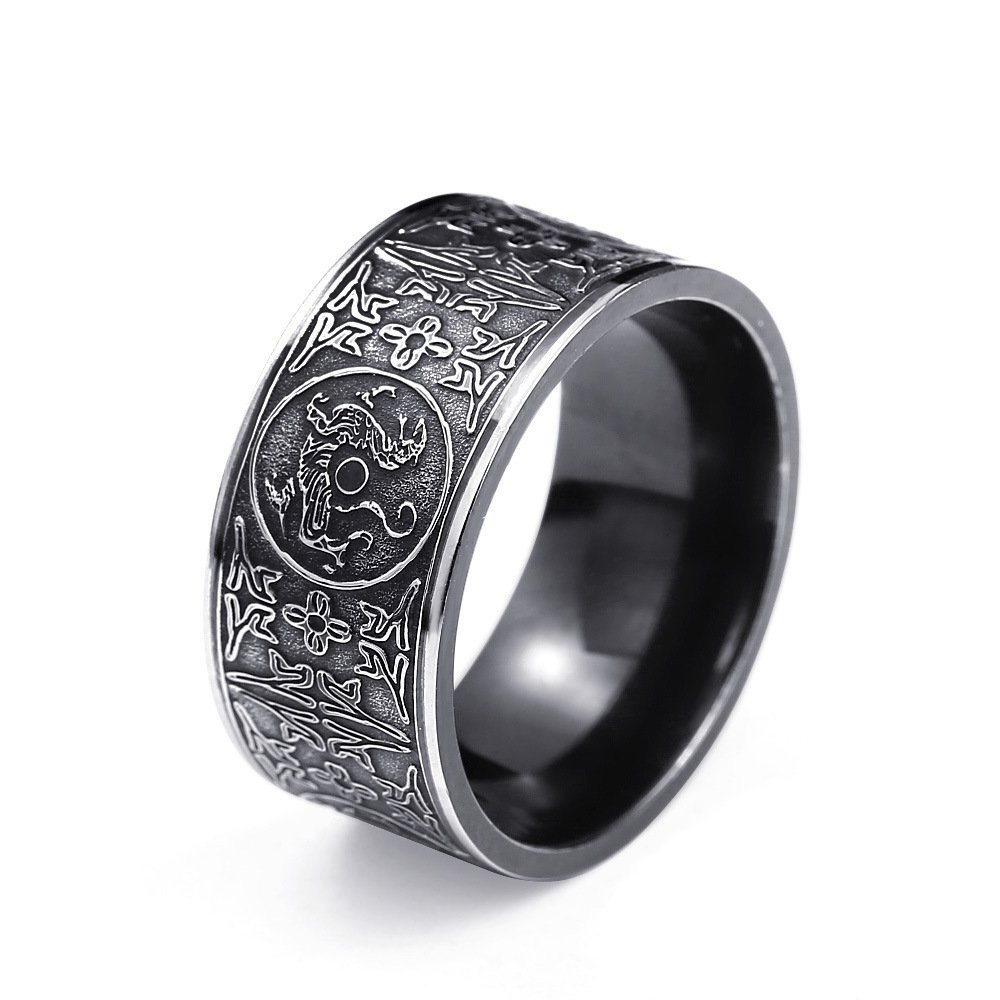 Gothic women men ring dragon Stainless Steel black anillos viking anillo hombre bague homme punk jewelry rings (GR145)