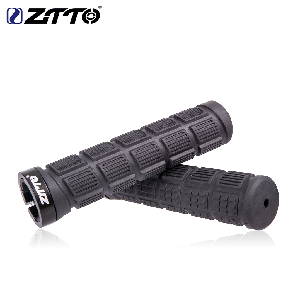 ZTTO Handlebar Grips MTB Mountain Bike Cycle Bicycle Lock handle Grips Durable BMX Rubber Grip Anti-Slip Parts 1 Pair 1 pair cycling mtb mountain bike fixed gear grips bicycle handlebar lock on rubber grips cycle bike bicycle parts 5 colors