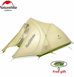 Naturehike factory sell DHL free shipping Cirrus 2017 New 2 Person 3 Season Camping Tent Ultralight Large Space Camping Tent