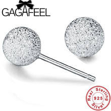 GAGAFEEL Simple Design 925 Sterling Silver Earrings for Women Anniversary Wedding Jewelry Cubic Zirconia Female Gifts Drop ship(China)