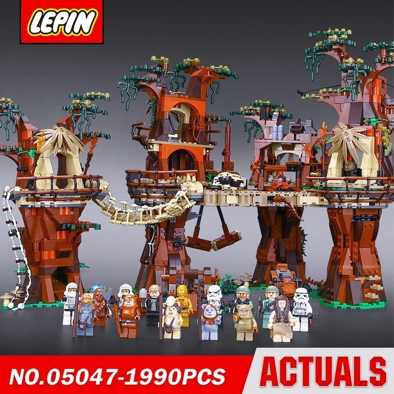 Lepin 05047 Evoq Virgin Forest Village Star Series Wars Model Building Block Brick Kits Compatible Toys lepin 22001 pirate ship imperial warships model building block briks toys gift 1717pcs compatible legoed 10210