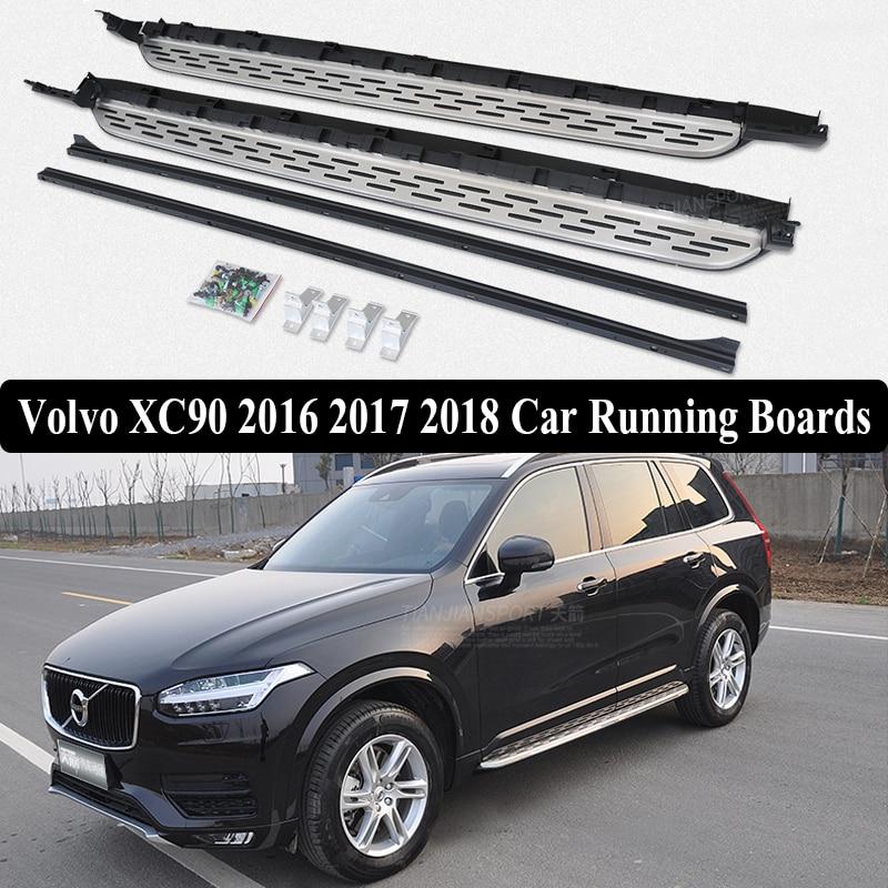 JIOYNG pour Volvo XC90 2016 2017 2018 marchepieds de voiture peinture Auto côté marchepied pédales tout nouveau Nerf Bars