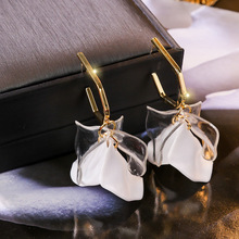 Korean White Transparent Flower Petal Earrings For Women 2019 New Handmade Fashion Wholesale