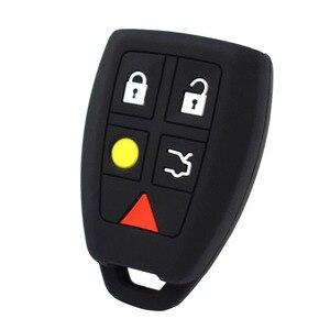 Image 3 - Coque de protection pour clé télécommande, sans clé, en peau, pour Volvo C30, C70, S40, V50 housse de clefs en Silicone 2004, 2007 Fob