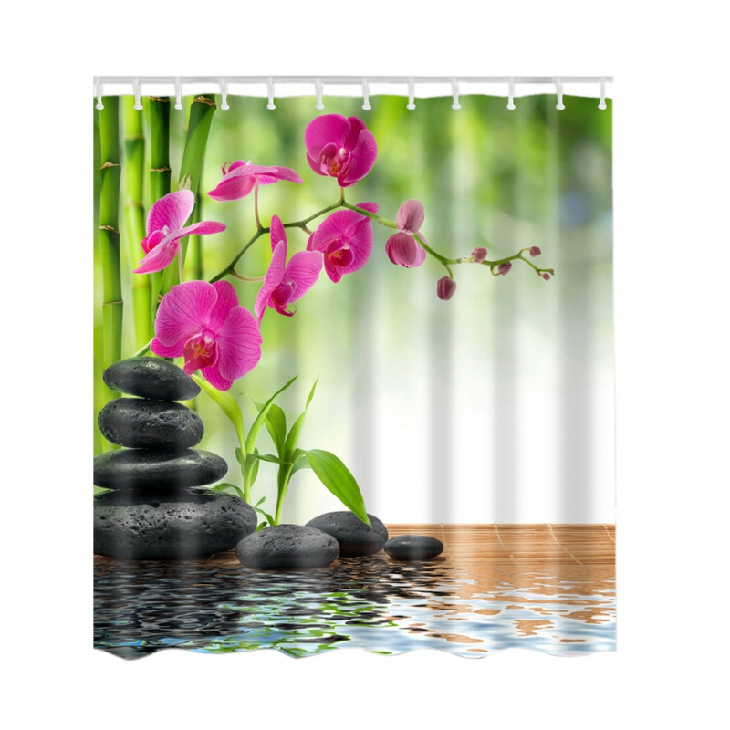 3D Print Bathroom Decor by Ambesonne Fabric Bathroom Decorations with Hooks Shower Curtains Shower Curtain