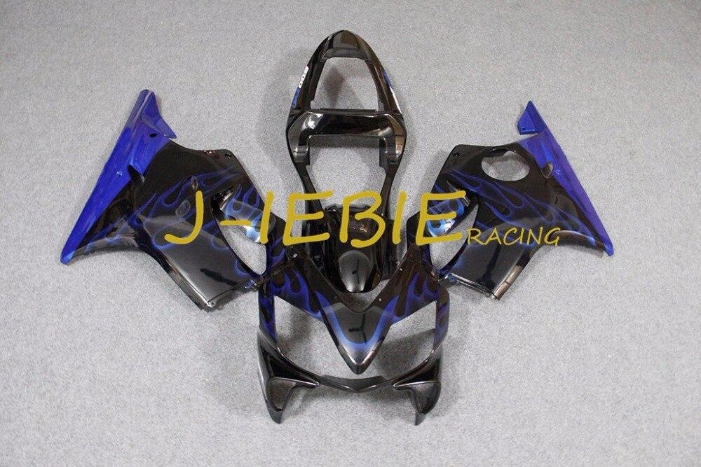 Black blue fire Injection Fairing Body Work Frame Kit for HONDA CBR600 CBR 600 CBR600F F4I 2001 2002 2003
