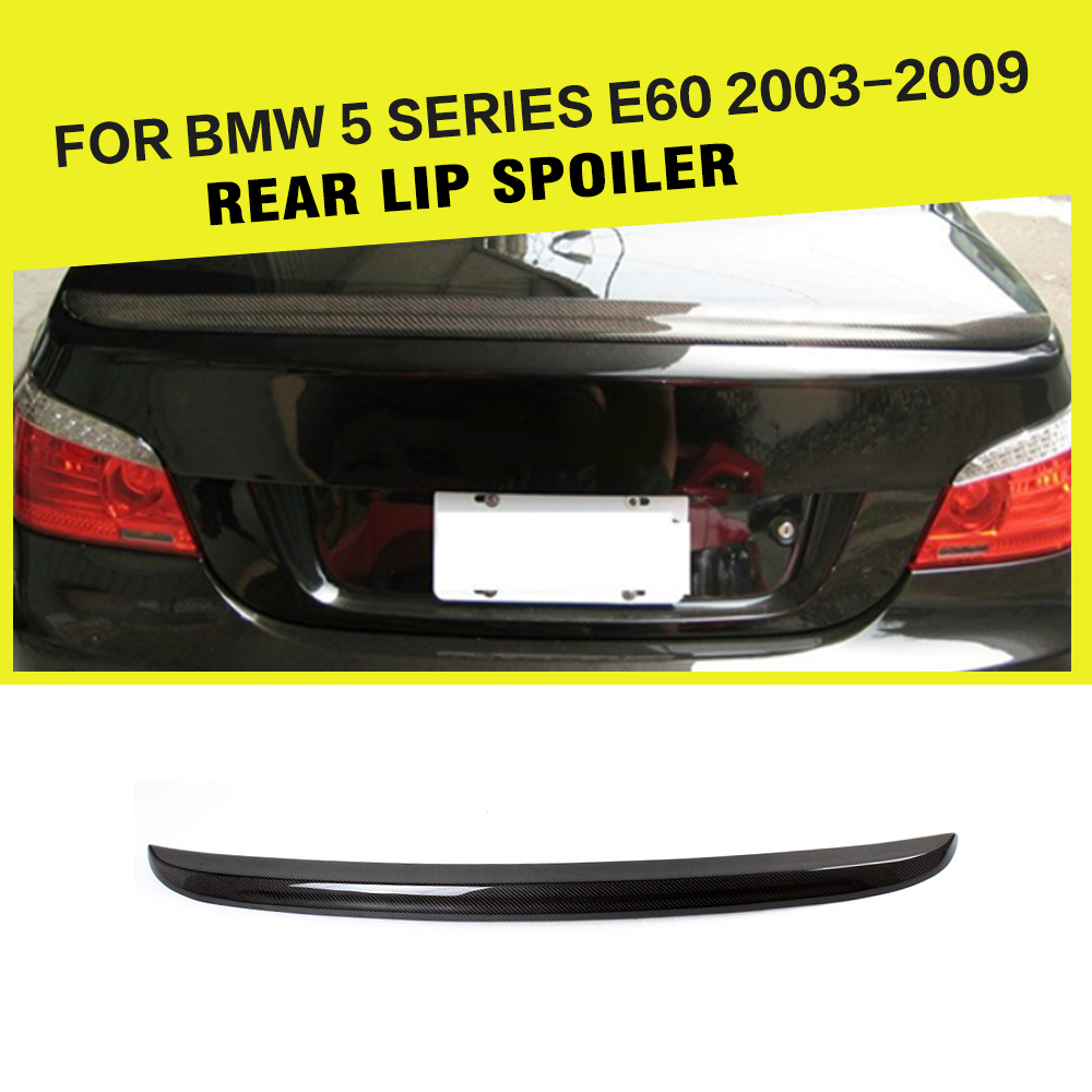 Car-Styling Carbon Fiber Rear Trunk Boot Wing Spoiler For BMW 5 Series E60 525i 530i 2003-2009 for mazda mx5 na miata type 2 new style real fiber glass rear trunk boot ducktail spoiler wing lip car accessories car styling