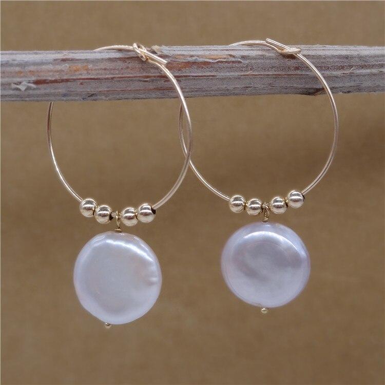 Eternal parola Regalo di cerimonia nuziale Delle Donne 925 Sterling Silver reale La perla naturale orecchini a forma di piatto grande Perla Viola grande orecchio - 3
