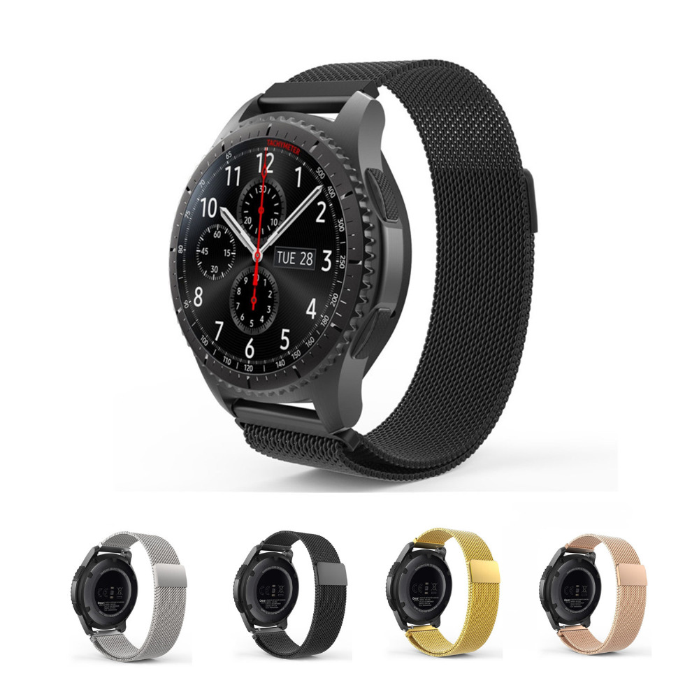 Stainless Steel band For Samsung gear s3 frontier/classic Milanese loop strap smart watch braclet smartwatch metal watchband iw 8758g 3 men s and women s quartz watch fabric classic canterbury stainless steel watch with multi color striped band