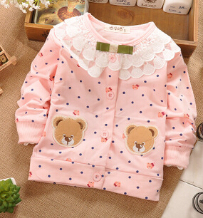 (1piece /lot) 100% cotton 2018 cute Lace collar baby outerwear