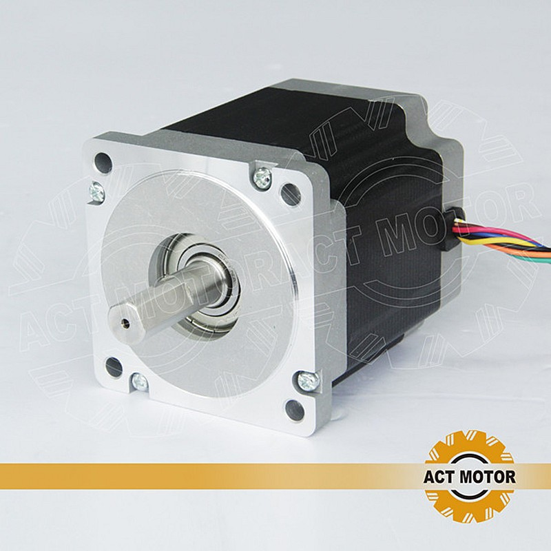 ACT Motor 1PC Nema34 Stepper Motor 34HS9820 890oz-in 98mm 2A 8-Lead Single Shaft CE ISO ROHS US CA DE UK JP Free act motor 4pcs nema34 stepper motor 34hs9820 890oz in 98mm 2a 8 lead single shaft ce iso rohs plastic us ca de uk it fr jp free