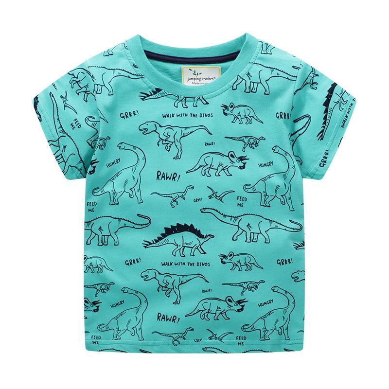 Dinosaur Boys T shirt Kids Summer Clothes Cartoon New Baby Cotton Top Tees Cute Animals Appliques Children