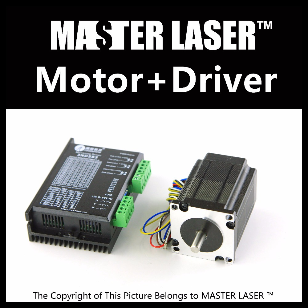Leadshine Stepping Motor 573S15 and Motor Driver 3ND583 for Laser Engraving/Cutting Machine Stepper Motor leadshine 2 phase stepping motor drive ma860h for laser engraving cutting machine stepper motor driver