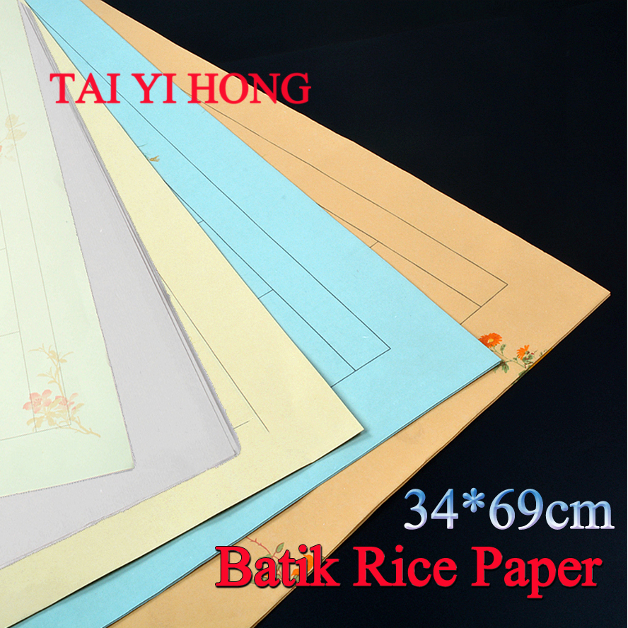34*69cm Retro Batik Chinese calligraphy Rice Paper Roll Painting Xuan Paper Painting Supply