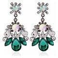 Новейший Роскошный Блестящий Кристалл Water Drop Мотаться Серьги Женщины Серьги Ювелирные Изделия Аксессуары Подарок