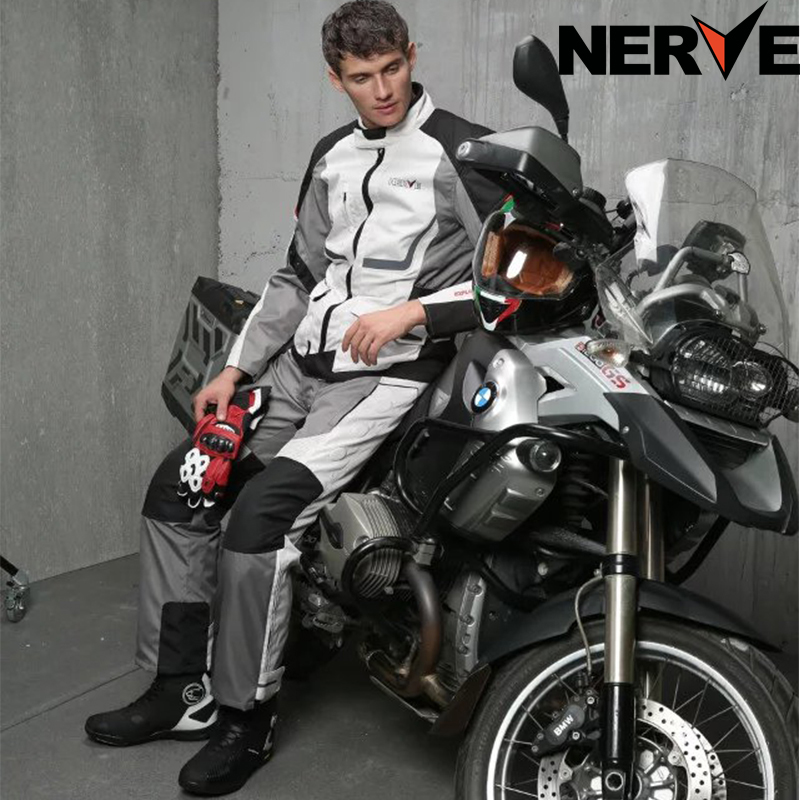 NERVE Men's Motocross Off-Road Jaqueta Oxford Cloth Waterproof Motorcycle Riding Racing Moto Jacket Five Protector mesh jaket - VECCHIO MOTORCYCLE SUPPLIES Store store