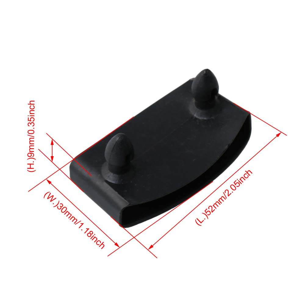 50Pcs Black Single End Caps Bed Slat Holders Contains Replacement For Holding And Securing Wooden Slats On The Bed