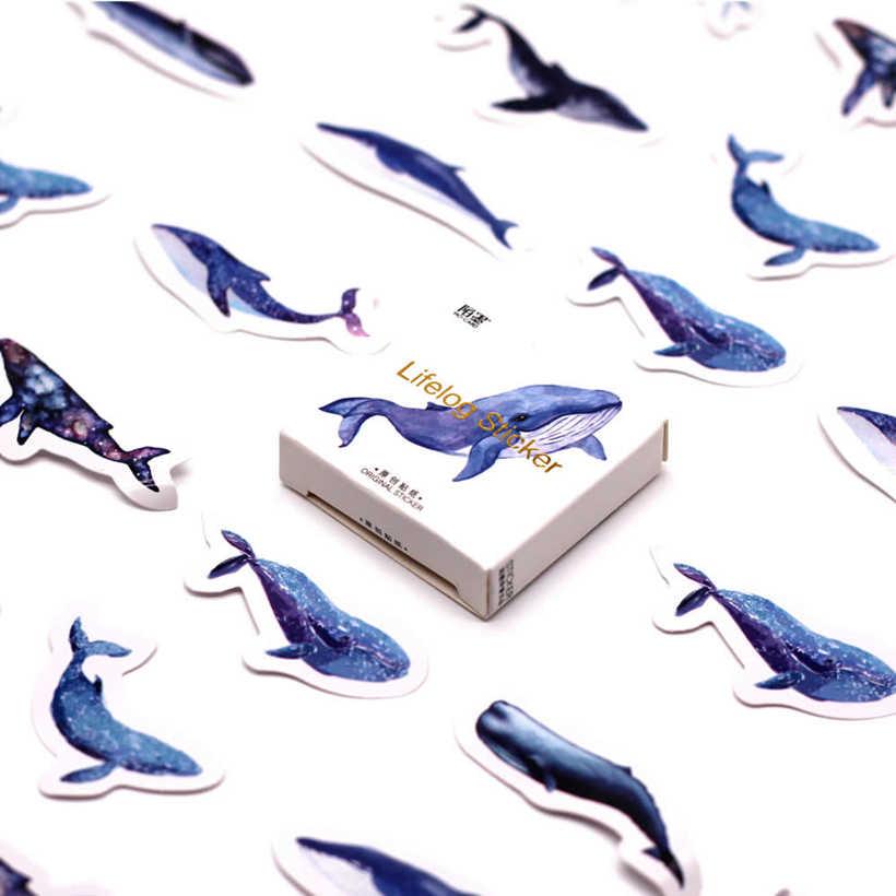 Venda quente 45 pçs/caixa azul oceano caderno diário desenho pintura graffiti capa macia papel almofada de memorando material escolar escritório presente