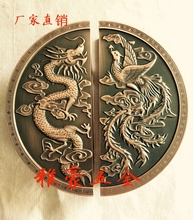 The dragon carved semicircular door handle door handle modern Chinese antique door handles spot