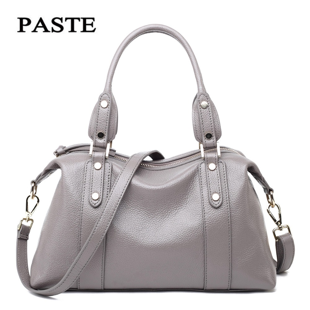 Paste Women Bags Genuine Leather Shoulder Bags Soft Leather Crossbody Handbags Solid New Lady Messenger Bag 2018 Totes p1201