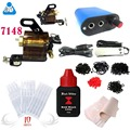 Professional Complete Tattoo Kit Top Rotary Tattoo Machine Gun 5ml black outlining inks set Needle Power Supply