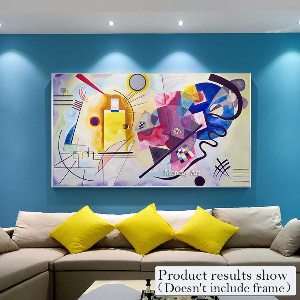 Famous Picasso Modern Pure Hand Paint Abstract Colorful Canva Painting Posters Home Decorative Art Pictures for Living Room Wall