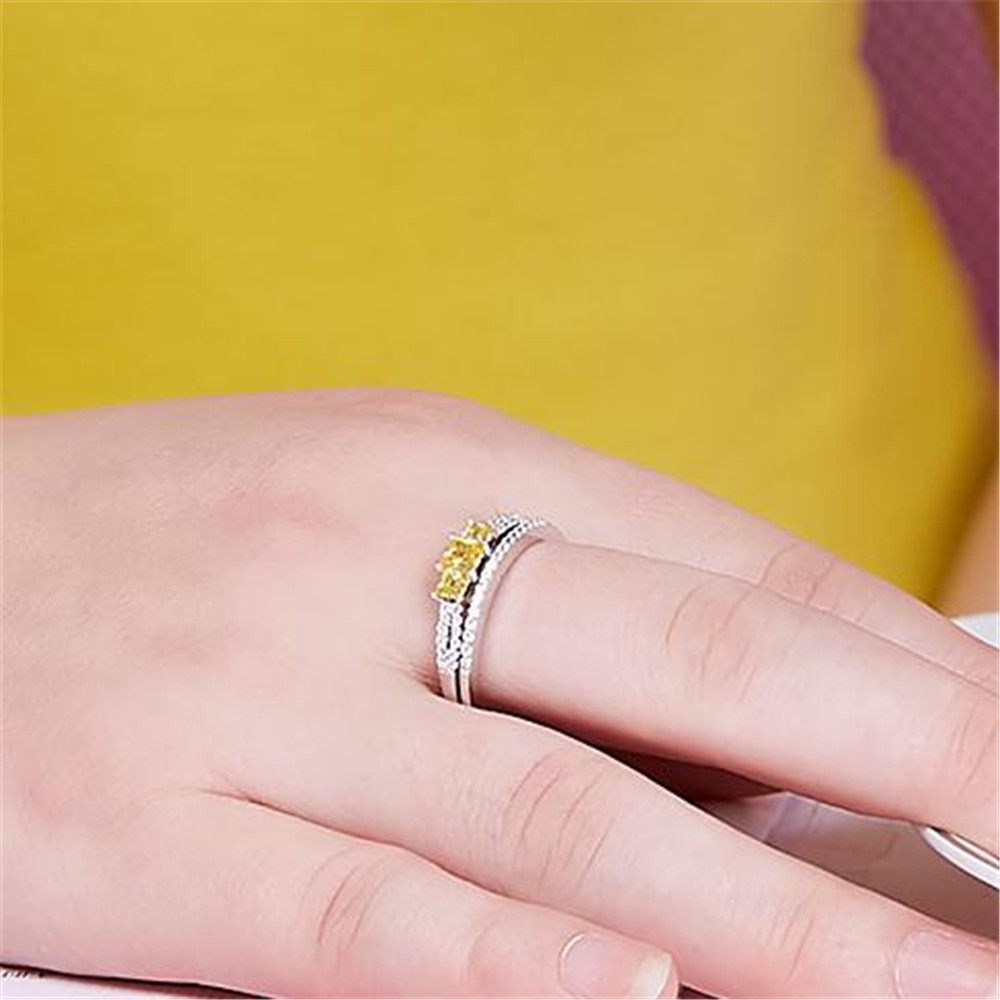 2018 Excellent Bezel Setting Girls S925 Sterling Party Ring Women\'s ...