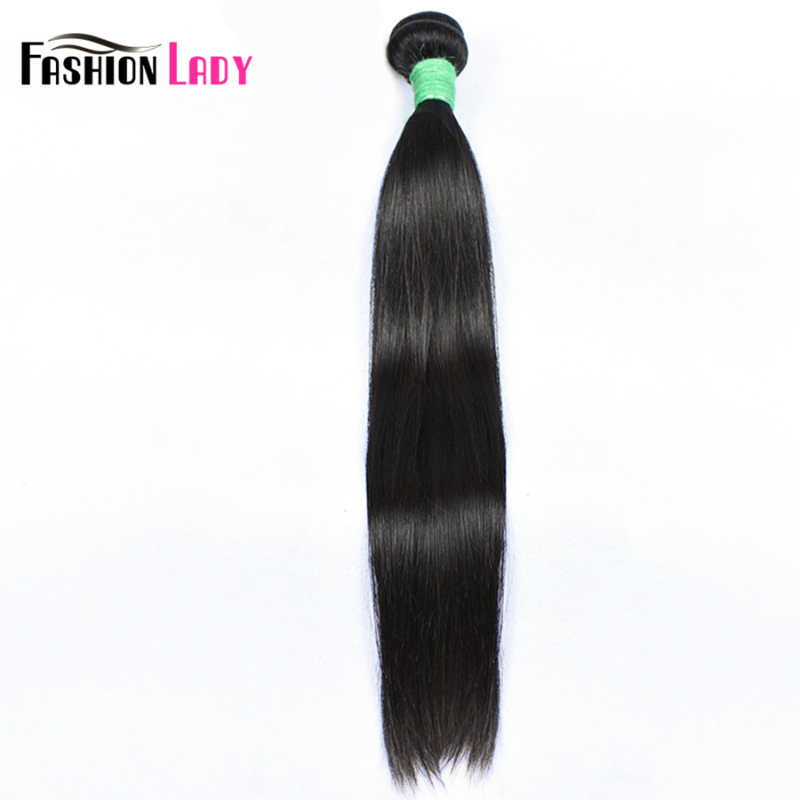 Fashion Lady Pre-Colored Brazilian Hair Weave Bundles Straight Human Hair Nature Color 100% Remy Hair Weave 1 Piece 10-24 inch