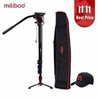 miliboo MTT705A Aluminum Portable Fluid Head Camera Monopod for Camcorder /DSLR Stand Professional Video Tripod 72Max Height